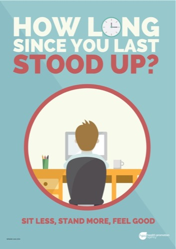 Example of a poster from the Sit less Move more campaign.